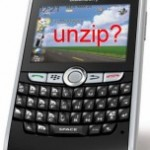 blackberry unzip