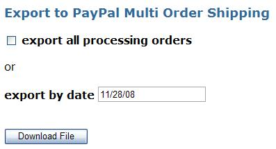 Cube Cart Export to Paypal