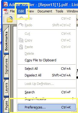pdf edit preferences